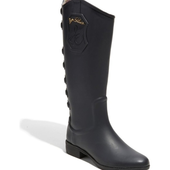 Sam Edelman Shoes - Sam Edelman black rain boots size 7